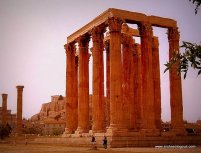 The Temple of Olympian Zeus and Acropolis in background-day tour by Archaeologous.com