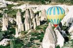 Cappadocia hot air balloon ride over rock hotels-houses-churches. Book with Archaeologous